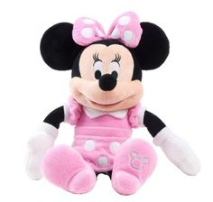 Disney Minnie Mouse Plush Pink Dress Doll 15 Inch for sale online Mickey Mouse Y Amigos, Mickey Mouse And Friends, Mickey Minnie Mouse, Disney Plush, Disney Toys, Pink Minnie Mouse Dress, Winnie The Pooh, Giant Plush, Plush Animals