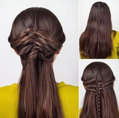 easy twisted hairstyle for long hair