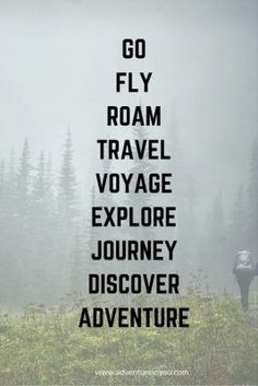 Go - fly - roam - travel - voyage - explore - journey - discover - adventure// Stuck in a rut? Check out these 20 best motivational quotes to inspire you to… Best Motivational Quotes, Best Inspirational Quotes, The Words, Quotes To Live By, Me Quotes, Best Travel Quotes, Exploration, Photos Voyages, Adventure Travel