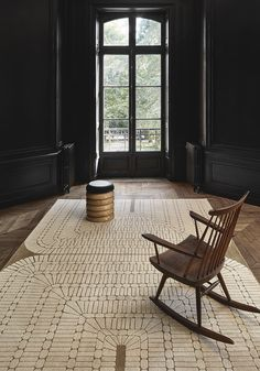 Nord/Sud, Stéphane Parmentier — Cogolin Nord Sud, Dark Colors, Vibrant Colors, Jacquard Loom, Home And Family, Interior Decorating, Space, Patio, Elegant