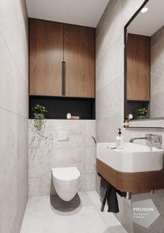Interior design of the toilet від Polygon Дизайн інтер'єру туалета. Interior design of the toilet від Polygon Small Toilet Design, Modern Bathroom Design, Bathroom Interior Design, Modern Toilet Design, Toilet Tiles Design, Downstairs Bathroom, Bathroom Layout, Small Bathroom, Bathrooms