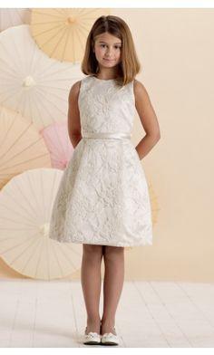sku:0740013; Silhouette:A-line; Hemline:Knee-length; Fabric:Satin; Back Details:Zipper; Neckline:Jewel; Waist:Natural; Colour:Ivory; Sleeve Length:Sleeveless;