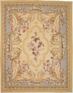 French Aubusson woven wool rug.