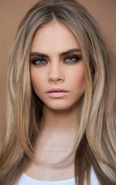 Great beige  blonde. Sombre at its best. I love doing natural low maintence hair like hers, Cara Delevingne ♥