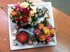Paastaartenfeest , pasen, bloementaart, www.ineke.info workshops