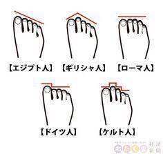 あなたの足の指は何型?ルーツや性格がわかっちゃうそうです | おたくま経済新聞