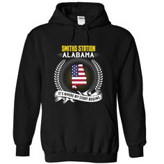 Born in SMITHS STATION ALABAMA T-Shirts, Hoodies. ADD TO CART ==► https://www.sunfrog.com/States/Born-in-SMITHS-STATION-2DALABAMA-V01-Black-Hoodie.html?id=41382