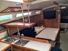 1992 catalina 30 mk ii tall rig sail boat for sale - sailboat interior,  yacht