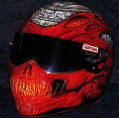 Very Cool Motorcycle Helmet Custom Motorcycle Helmets, Custom Helmets, Racing Helmets, Motorcycle Garage, Skull Helmet, Helmet Accessories, Motorcycle Accessories, Cycling Helmet, Helmet Design