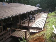 us finishing our deck. except the hand rails