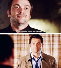 Crowley and Castiel (Mark Sheppard and Misha Collins)