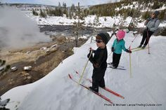Outside Magazine: The 10 Best National Park Adventures with Kids: Cross-country skiing in Yellowstone, Wyoming.