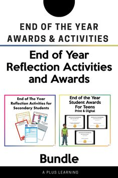Teen Awards, Activities For Teens, Student Awards, End Of Year, Classroom Resources, High School Students, Reflection, Positivity, Learning