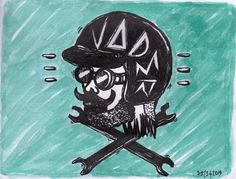 Edward Reza Prima  ''vader''  drawing pen acrylic on paper  @2013