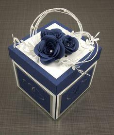 Gift Card Boxes, Diy Gift Box, Diy Box, Scrapbook Box, Scrapbooking, Diy Exploding Box, Wedding Gift Boxes, Creative Gift Wrapping, Magic Box