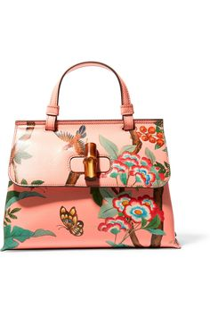 Gucci | Bamboo Daily printed textured-leather shoulder bag | NET-A-PORTER.COM