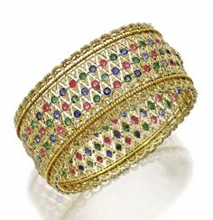 Ruby, Emerald, Sapphire and Diamond Bangle, Buccellati