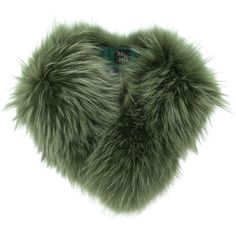 Mr & Mrs Italy racoon fur scarf ($1,007) ❤ liked on Polyvore featuring accessories, scarves, green, fur scarves, dog scarves, green shawl, fur shawl and green scarves