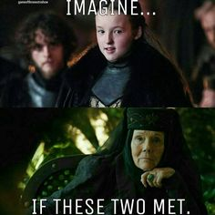 Lyanna Mormont and the Queen of Thorns. Game of Thrones. ASOIAF
