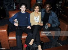 (EMBARGOED FOR PUBLICATION IN UK TABLOID NEWSPAPERS UNTIL 48 HOURS AFTER CREATE DATE AND TIME. MANDATORY CREDIT PHOTO BY DAVE M. BENETT/GETTY IMAGES REQUIRED (L to R) Actors Iwan Rheon, Antonia Thomas and Nathan Stewart-Jarrett attend a Gala Screening of 'Shame' at The Curzon Mayfair on January 10, 2012 in London, England.