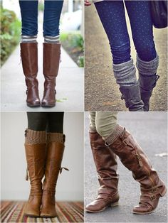 Boot socks  I love fall and boots with leggings!! Love the loo. 7da624794c0