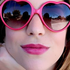 Live for The Applause! This fully magnified reader has a lightweight frame and contrasting, flexible wire temples Ray Ban Sunglasses Sale, Heart Sunglasses, Pink Sunglasses, Sunglasses Outlet, Sunglasses 2016, Revlon Makeup, Rose Colored Glasses, Daily Fashion, Fashion Tips