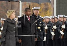German Minister of Defence Ursula von der Leyen (CDU) receives her Angolan counterpart Candido Pereira Van-Dúnem with military honours on the grounds of the Ministry of Defence in Berlin, Germany, 24 November 2014. Photo by: Rainer Jensen/picture-alliance/dpa/AP Images