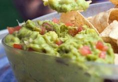 Guacamole by Jonathan Waxman: Get a molcajete and smash cilantro, jalapeno, and onion until it turns into a slurry, almost like a soup. Then dice the avacado - don't smash it. Put it in a bowl and put the slurry on top. Just add in sea salt and put a little lime juice on top, and that's it.