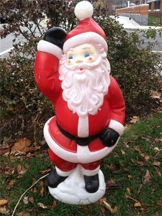 vintage empire plastic blow mold santa waving lawn yard ornament 42 - Yard Plastic Christmas Decorations Outdoors