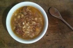 Sopa de grão de bico com carne   Um Doce Dia