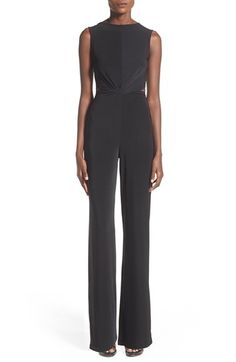 Missguided Slinky Twist Front Jumpsuit available at #Nordstrom