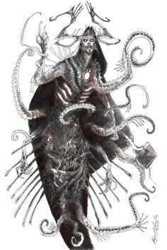 Preach the Unspeakable by Abz-J-Harding on DeviantArt Character Inspiration, Character Art, Character Design, Dark Fantasy, Fantasy Art, Fantasy Beasts, Aliens, Eldritch Horror, Fantasy Creatures