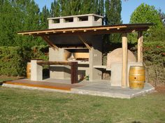quincho argentino - Google Search Porches, Gazebo, Pergola, Ideas Para, New Homes, Exterior, Outdoor Structures, Landscape, House Ideas