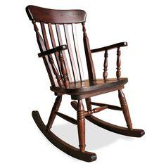 Sedia a dondolo in legno di pino - Old River | ArredaSì
