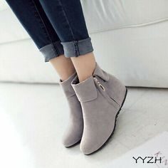 Comfortable Ankle Boots Womens Low Heel Suede Roma New Ladies Shoes Plus Size - Black Boot - Ideas of Black Boot - Comfortable Ankle Boots Womens Low Heel Suede Roma New Ladies Shoes Plus Size Price : Low Heel Ankle Boots, Low Heels, Heeled Boots, Fashion Sandals, Fashion Boots, Sneakers Fashion, Hijab Fashion, Women's Shoes, Shoe Boots