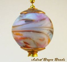 Handcrafted Artisan Lampwork Glass and Metal Lamp Pull