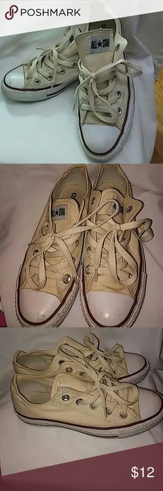 All Star Converse sneakers All Star Converse cream color sneakers; size 6; gently used; Converse Shoes Sneakers