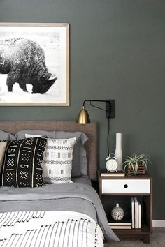 6 Self-Reliant Tips: Minimalist Interior Office Home Decor minimalist bedroom wall bedside tables.Minimalist Bedroom Blue Lamps minimalist decor with color coffee tables. Home Decor Bedroom, Bedroom Makeover, Woodsy Bedroom, Bedroom Diy, Home Decor, Bedroom Inspirations, Apartment Decor, Bohemian Style Bedrooms, Bedroom Deco