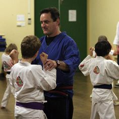My style of teaching children martial arts; friendly but firm.
