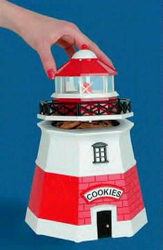 cookie jars collectibles | Foghorn Lighthouse Novelty Cookie Jar | Cookie Jars
