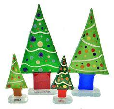 Christmas trees by Half-a-moon Christmas Trees, Christmas Ornaments, Creative People, Art Gallery, Moon, Holiday Decor, Home Decor, Xmas Ornaments, Homemade Home Decor