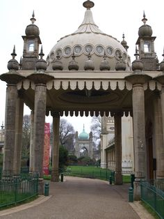 Entrance to The Royal Pavilion in Brighton is a former royal residence. It is often referred to as the Brighton Pavilion
