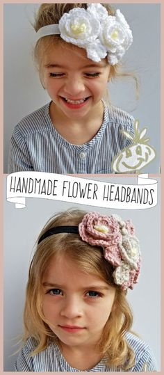 Beautiful handmade flower headbands can be customized in your choice of colors! Crochet Flower Patterns, Crochet Flowers, Crochet Ideas, Baby Headbands, Flower Headbands, Crochet Headbands, Etsy Handmade, Handmade Gifts, Handmade Products