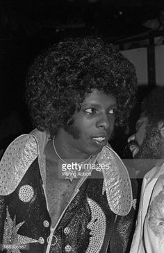Musician Sly Stone backstage at Madison Square Garden in New York City on March 25 1974 Sly Stone, The Family Stone, Stone Pictures, Madison Square Garden, Record Producer, Black History, Backstage, Rock And Roll, Singers