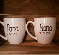 Nana mug papa mug mugs for nana and papa by simplymadegreetings
