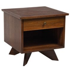 """George Nakashima """"Origins Collection"""" Nightstand for Widdicomb http://www.1stdibs.com/furniture/tables/night-stands/"""