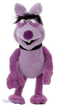 Purzel is een personage uit de Wiwaldi show maar door Living Puppets ook uitgevoerd als 50 cm grote, goed bespeelbare handpop.