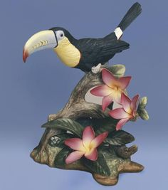 This charming Keel-Billed Toucan Sculpture from the artisans and painters of the Boehm Porcelain studio adds playful natural flair to any decor. http://www.wildlifewonders.com/toucan1.html