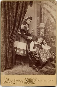 A Girl in a Flag Dress - A Staged Cabinet Card Joke by Photo_History, via Flickr