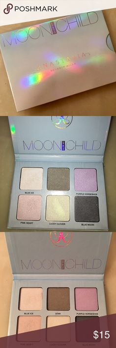 Moonchild GlowKit Moonchild GlowKit Anastasia Beverly Hills ! Brand new. I just don't like how it isn't sparkly enough for me. Really fun highlighter palette! Can also be used on your eyes as eyeshadow!   #anastasiabeverlyhills #anastasia #glowkit #moonchild #moonchildglowkit #makeup #highlighter #eyeshadow #brandnew #christmasgift #greatgift Anastasia Beverly Hills Makeup Luminizer